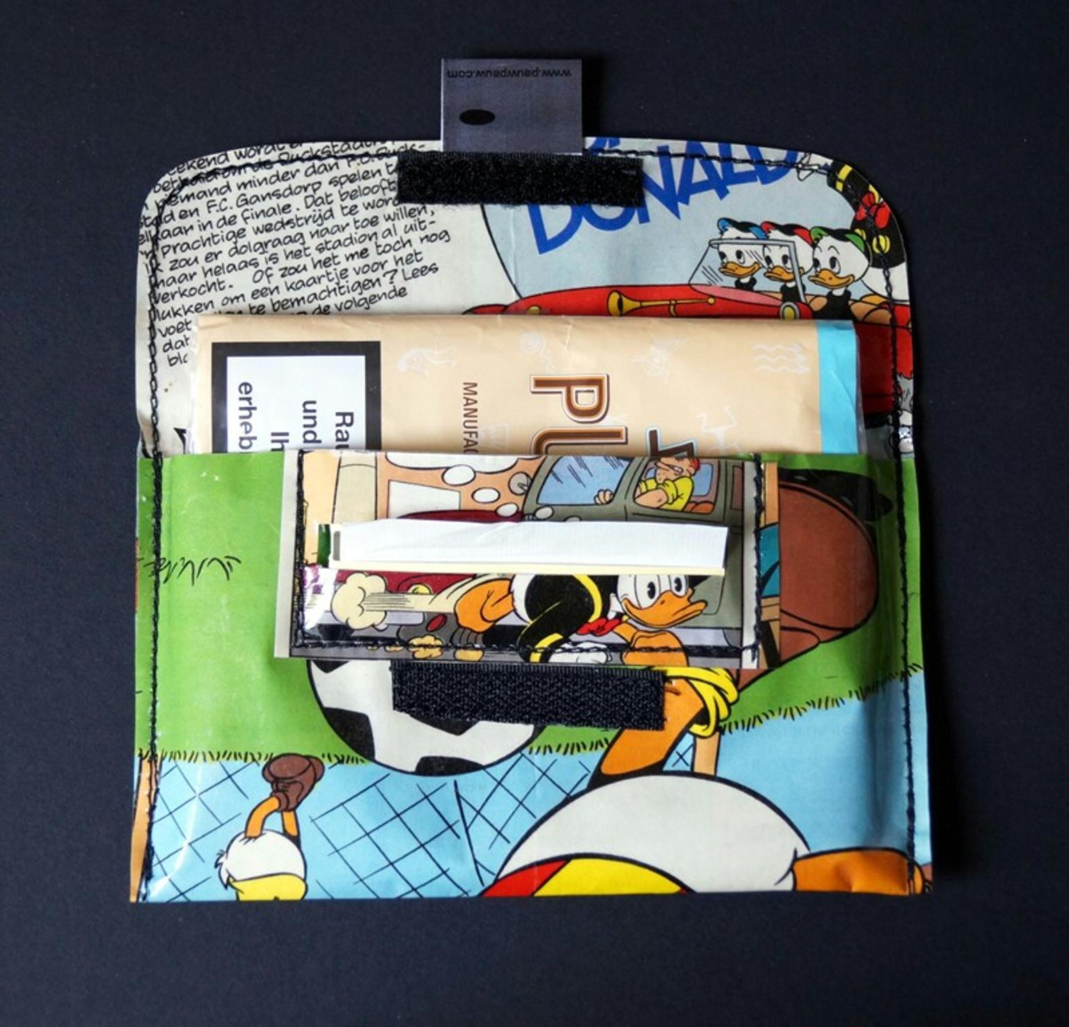 Tabaktasche Donald Duck Comic Upcycling