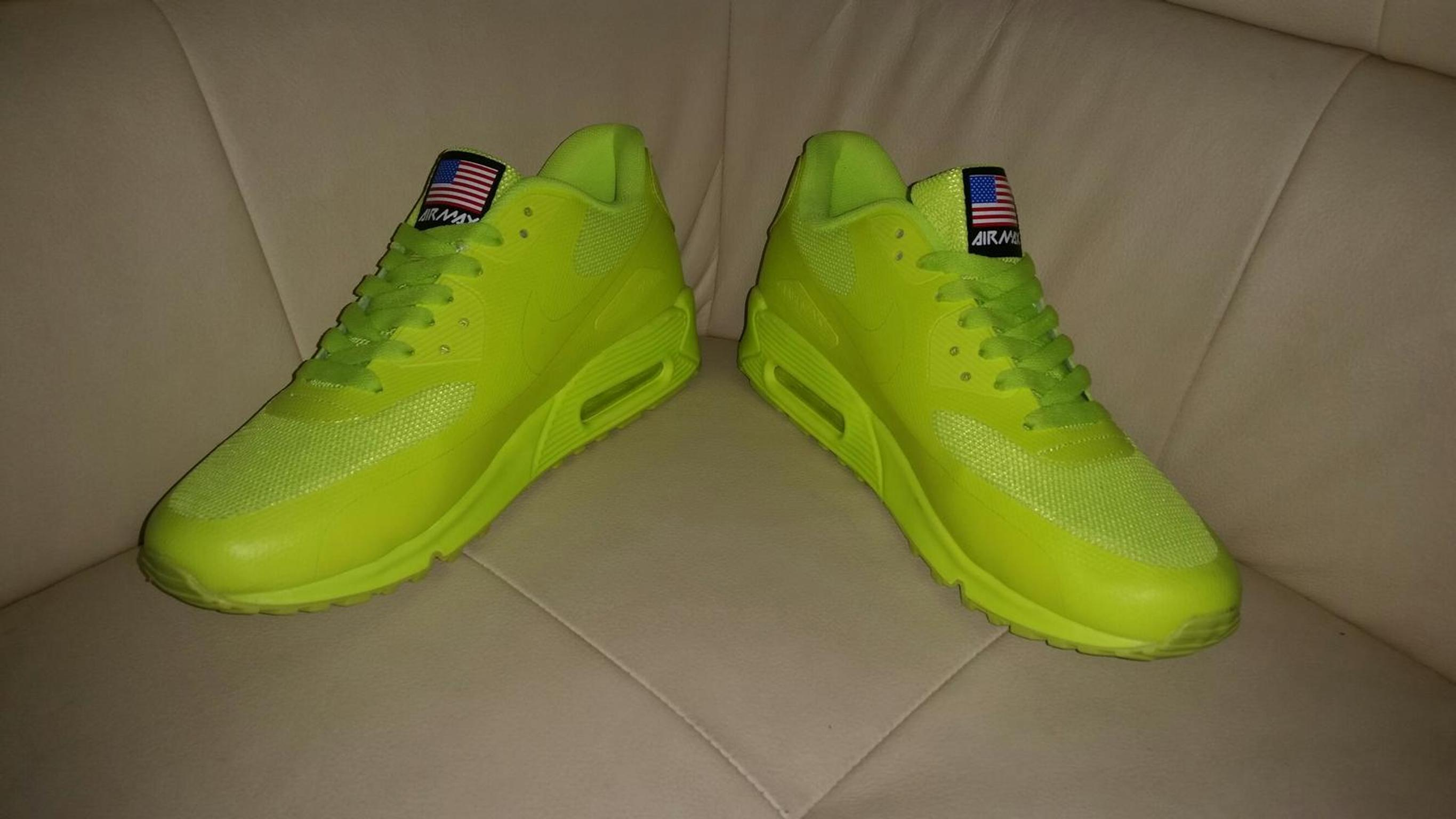 nike air max 90 hyperfuse independence day neongelb