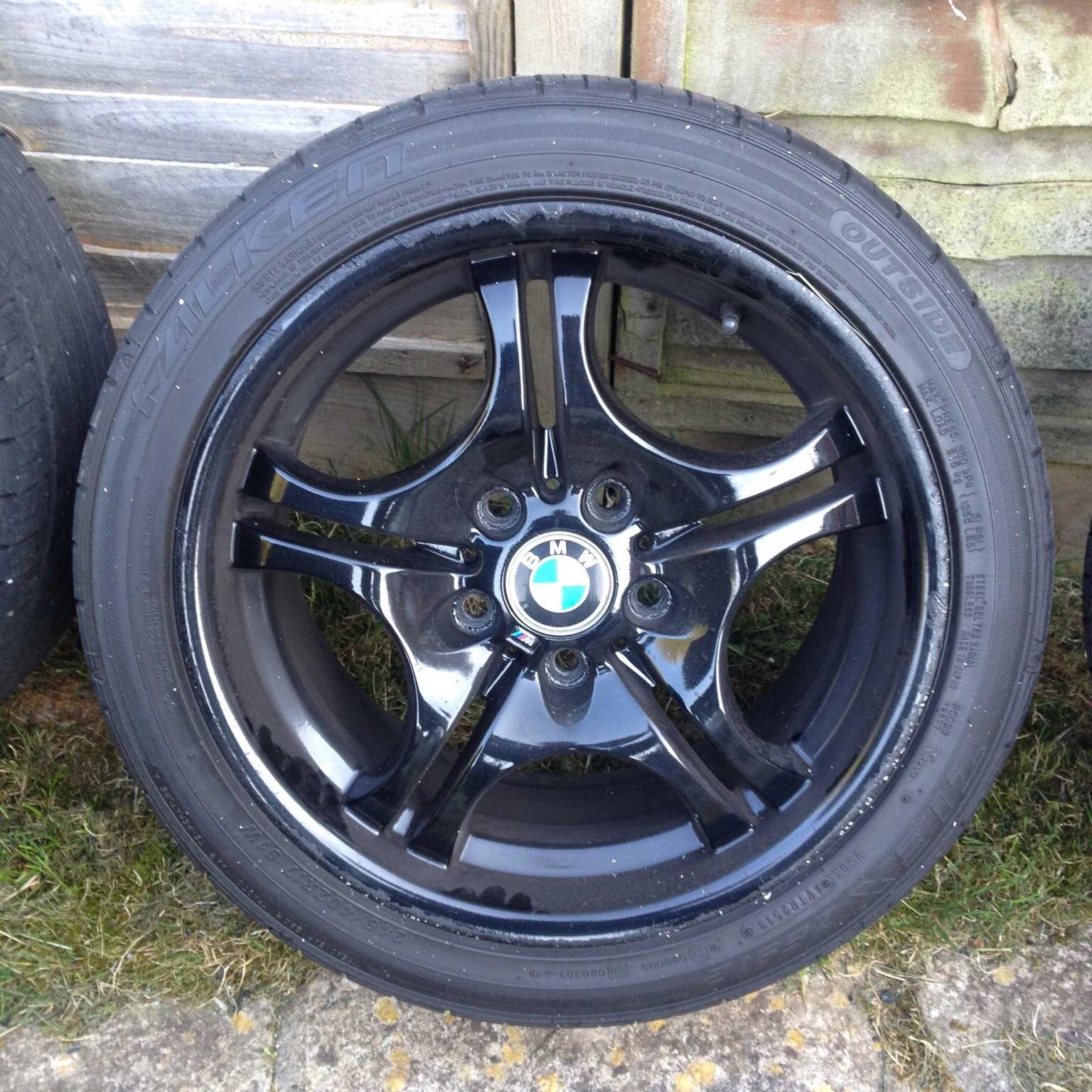 Bmw E46 Style 68 Alloys And Tyres Black In Se4 London For 17500