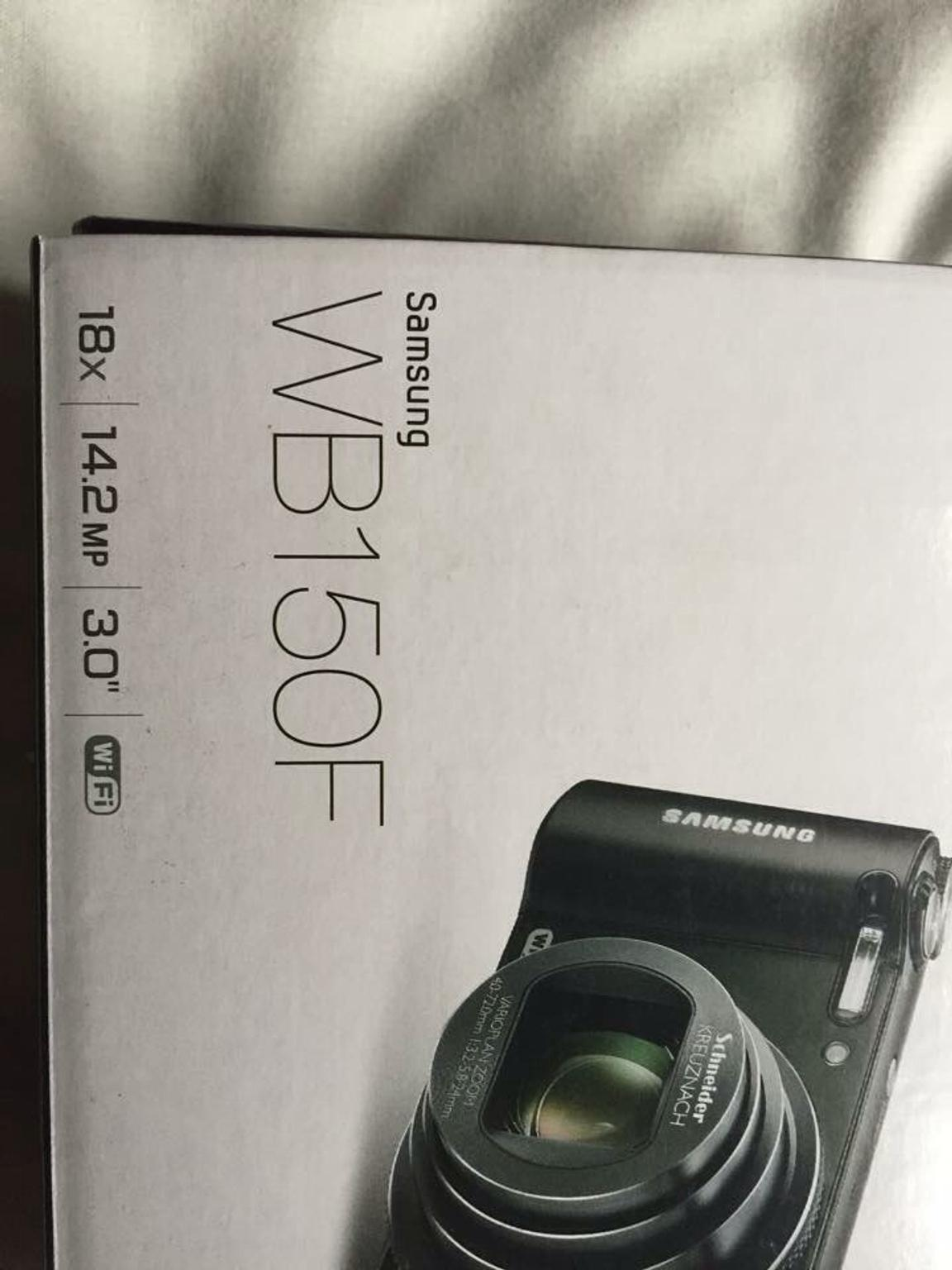 Samsung WB150F WiFi Camera + 4GB memory card