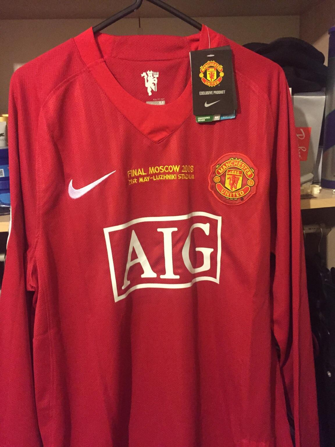 low priced c08bc 5da9e Man Utd 2008 UCL Final Shirt RONALDO 7