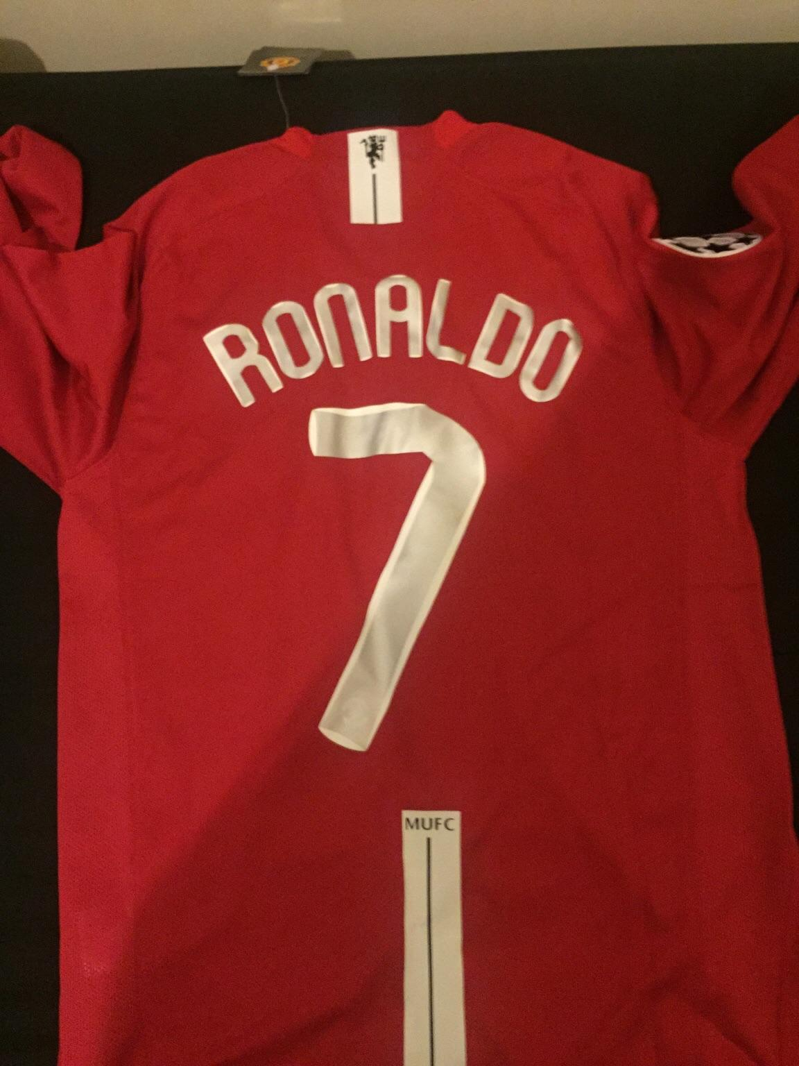 low priced 85c71 571e1 Man Utd 2008 UCL Final Shirt RONALDO 7