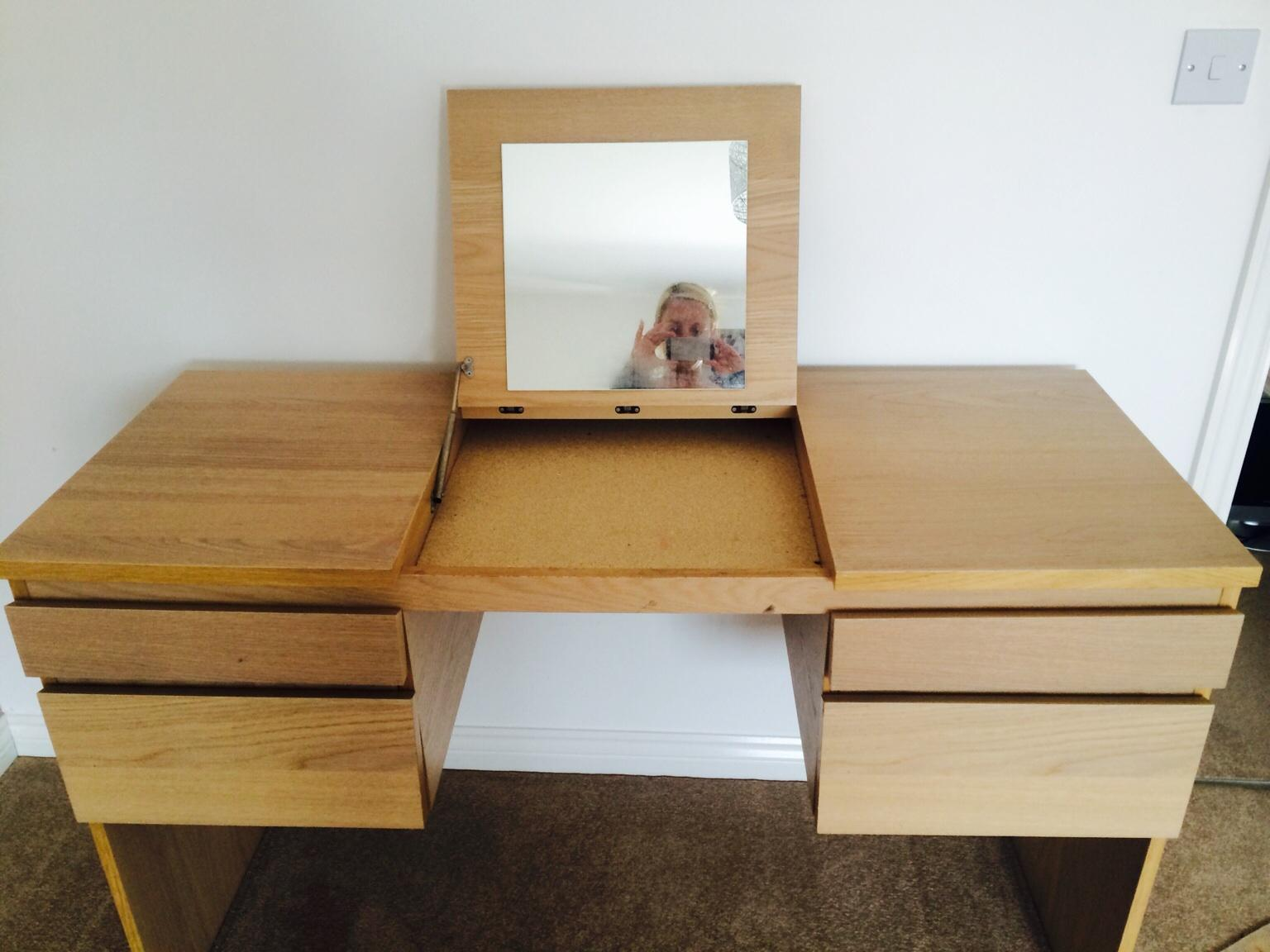newest ab2ee 1ced4 Ikea Ransby Dressing Table with Mirror