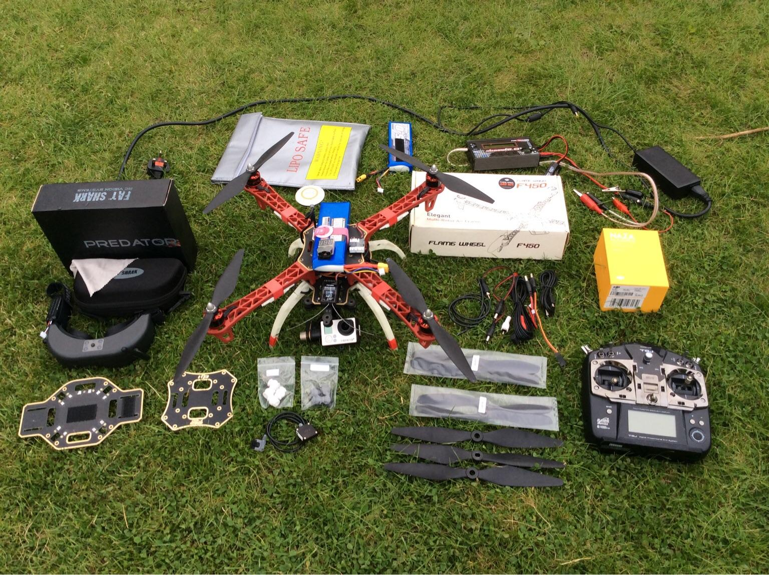 DJI F450 quadcopter with FPV gear in B60 Bromsgrove for