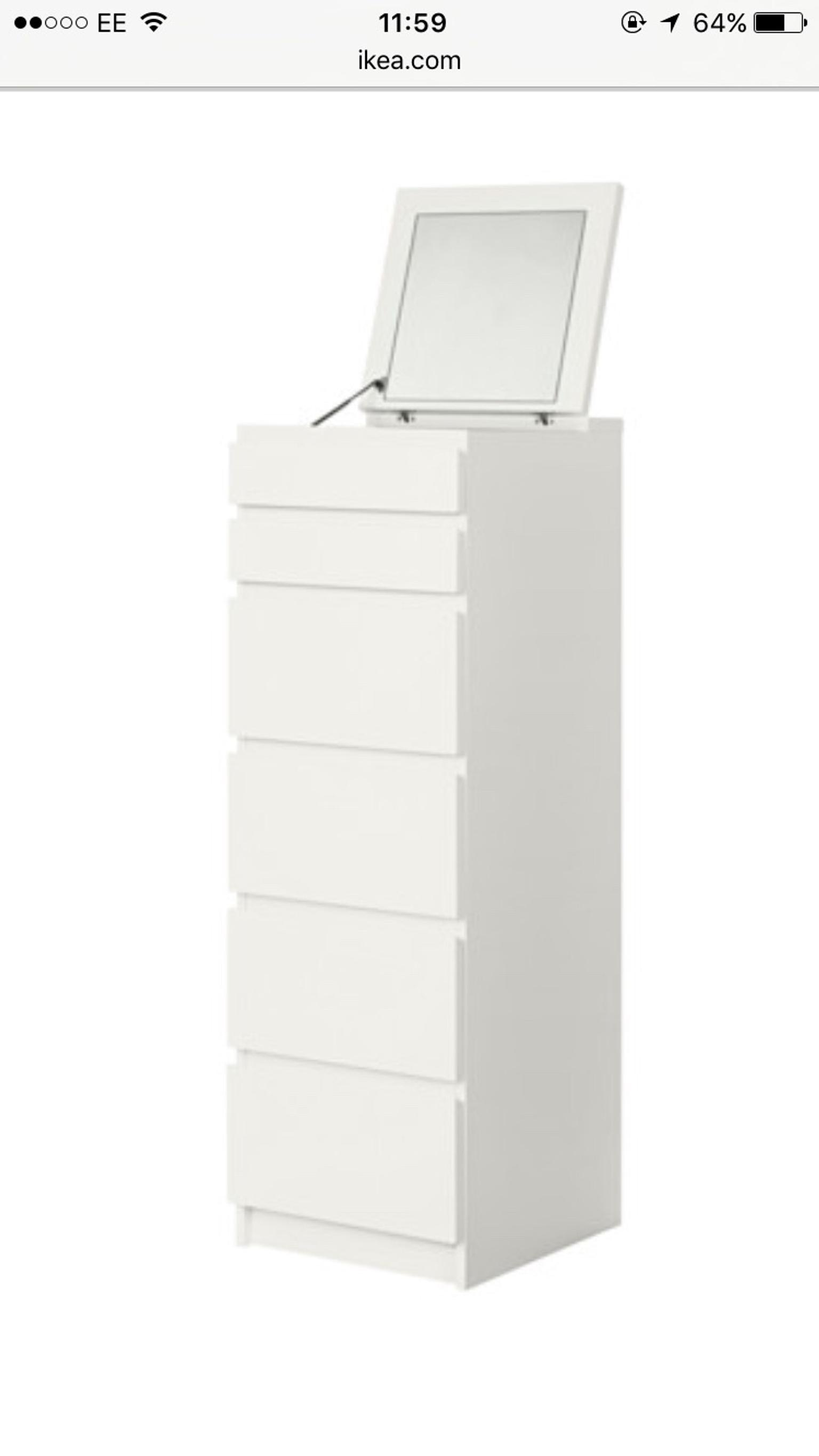 Ikea Malm 6 Chest Of Drawers Tall Boy