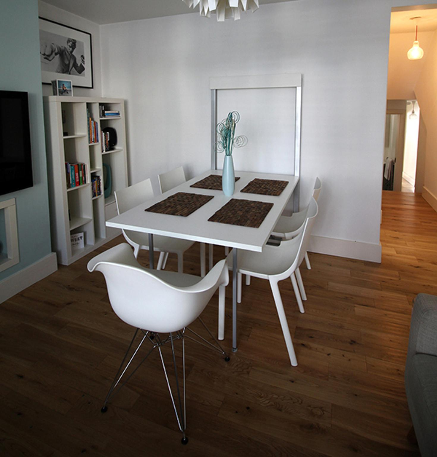 Folding Dining Table Wall Mounted White