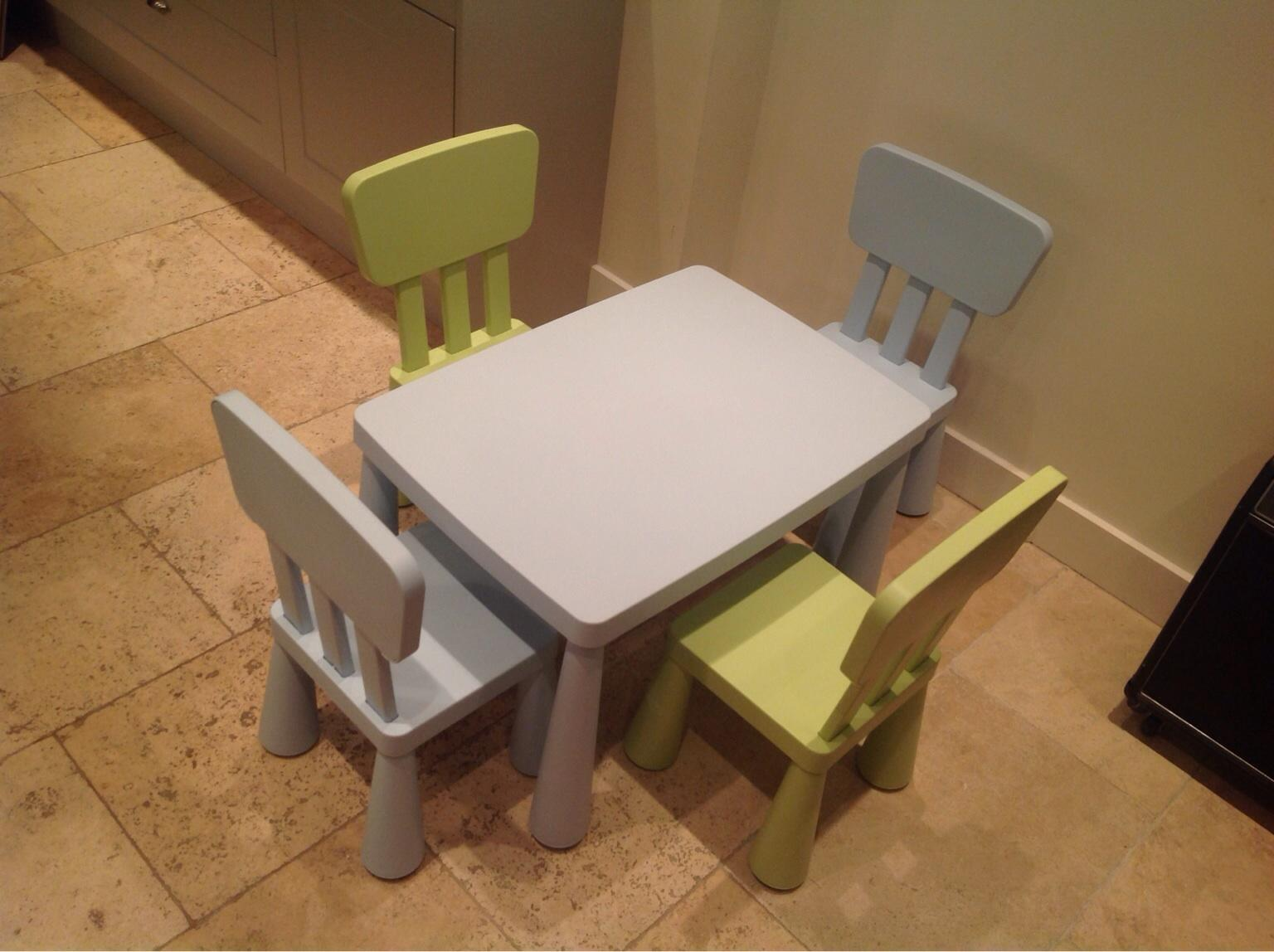 Ikea Mammut Children Table 4 Chairs In Sw18 London For 30 00