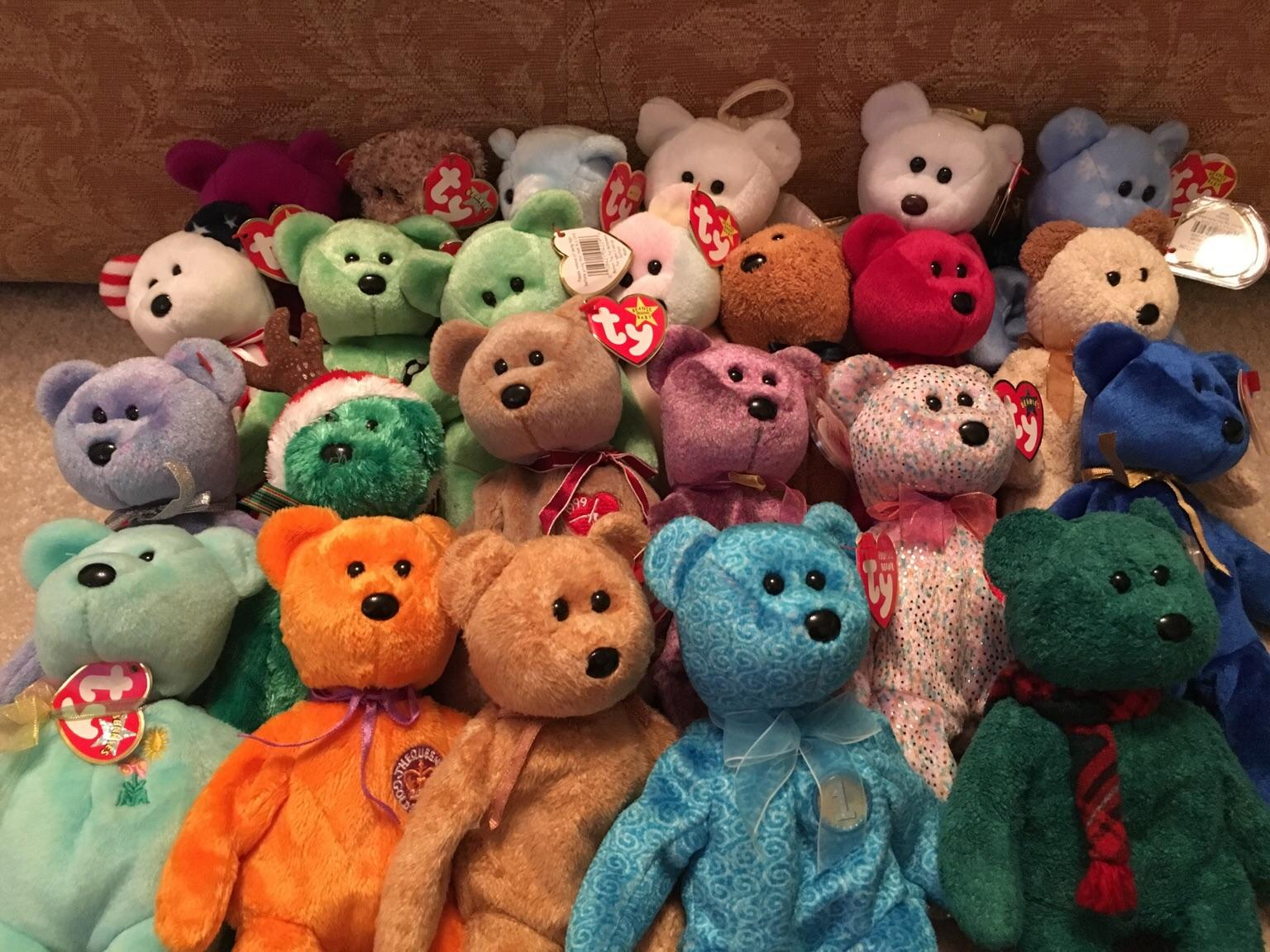 ty original beanie babies bears £3 each tags still attached Retired