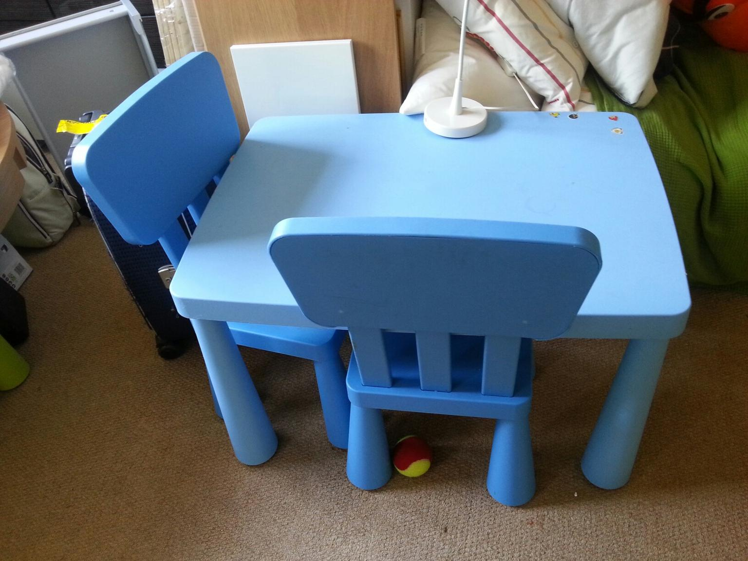 Children S Ikea Mammut Blue Table 2 Chairs In Se15 London For 22 00 Shpock
