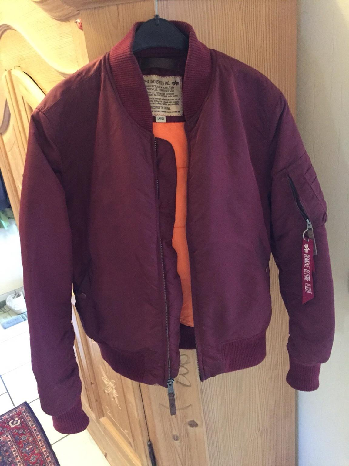 finest selection 50a85 ceda6 Alpha Industries MA1 Bomberjacke Bordeaux