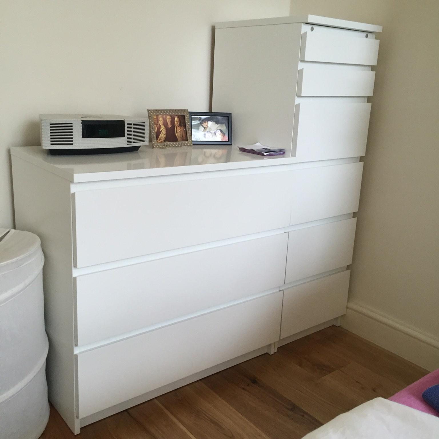 IKEA MALM Chest 6 Drawers w/Mirror Lid White in W12 London ...