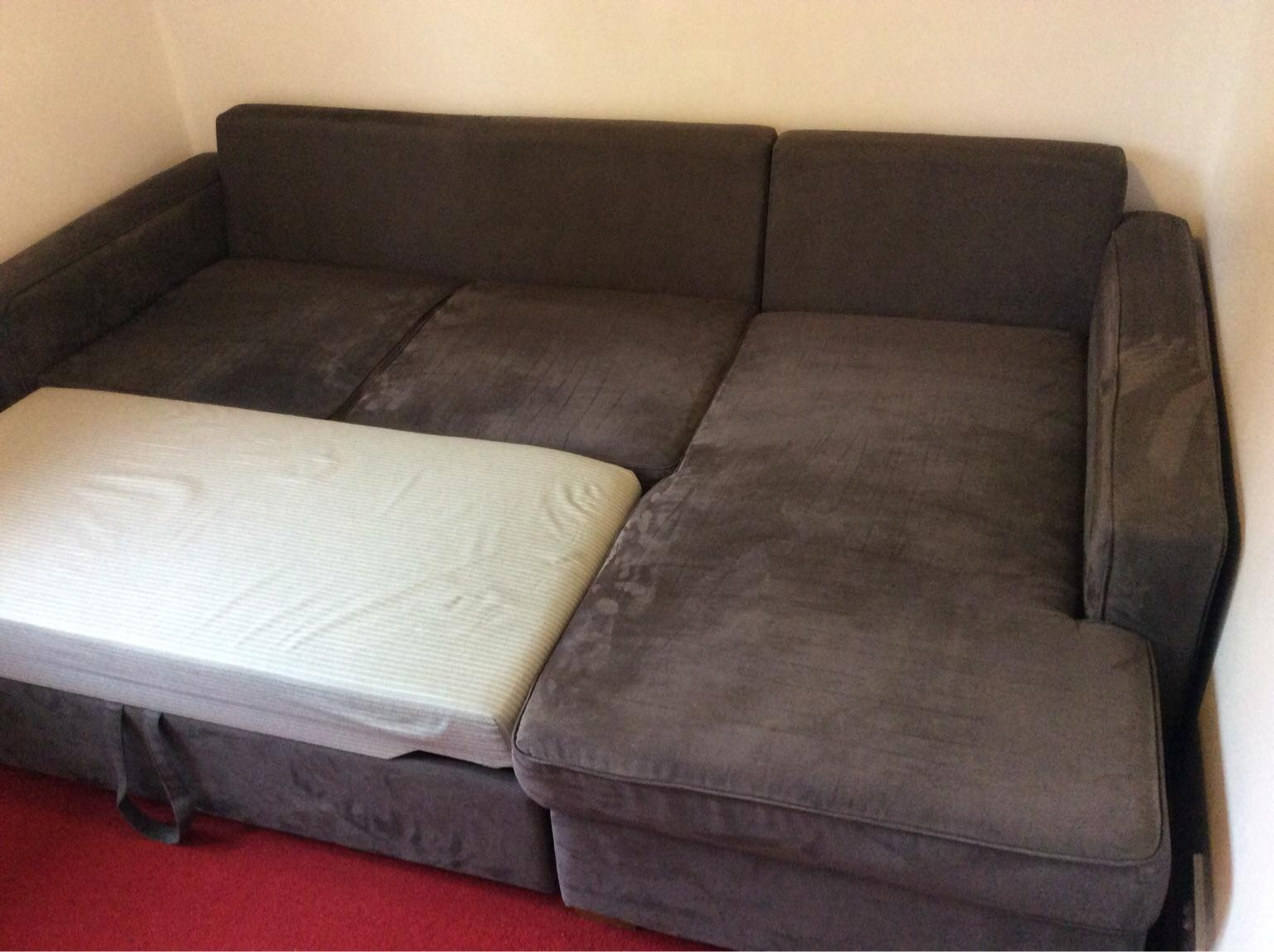 John Lewis Faux Suede Corner Sofa Bed In Rg28 Deane For 200 00 For Sale Shpock