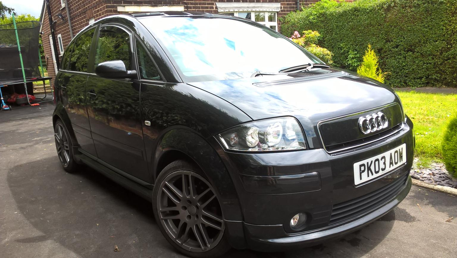 audi a2 sport tdi 2003 full body kit tints in wf14. Black Bedroom Furniture Sets. Home Design Ideas