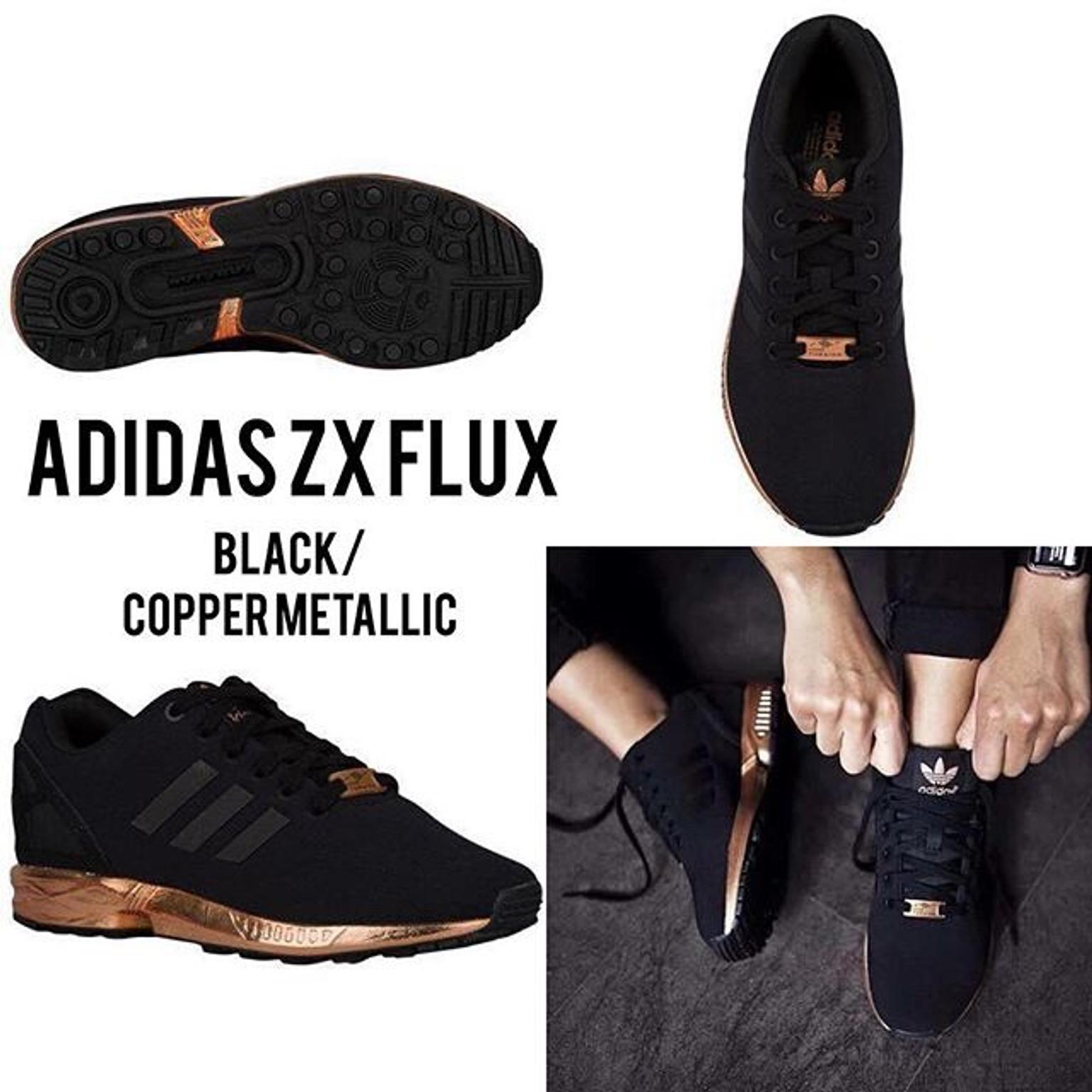 newest collection 7a0ef ab450 Rare Adidas Torsion ZX Flux Black & Rose Gold