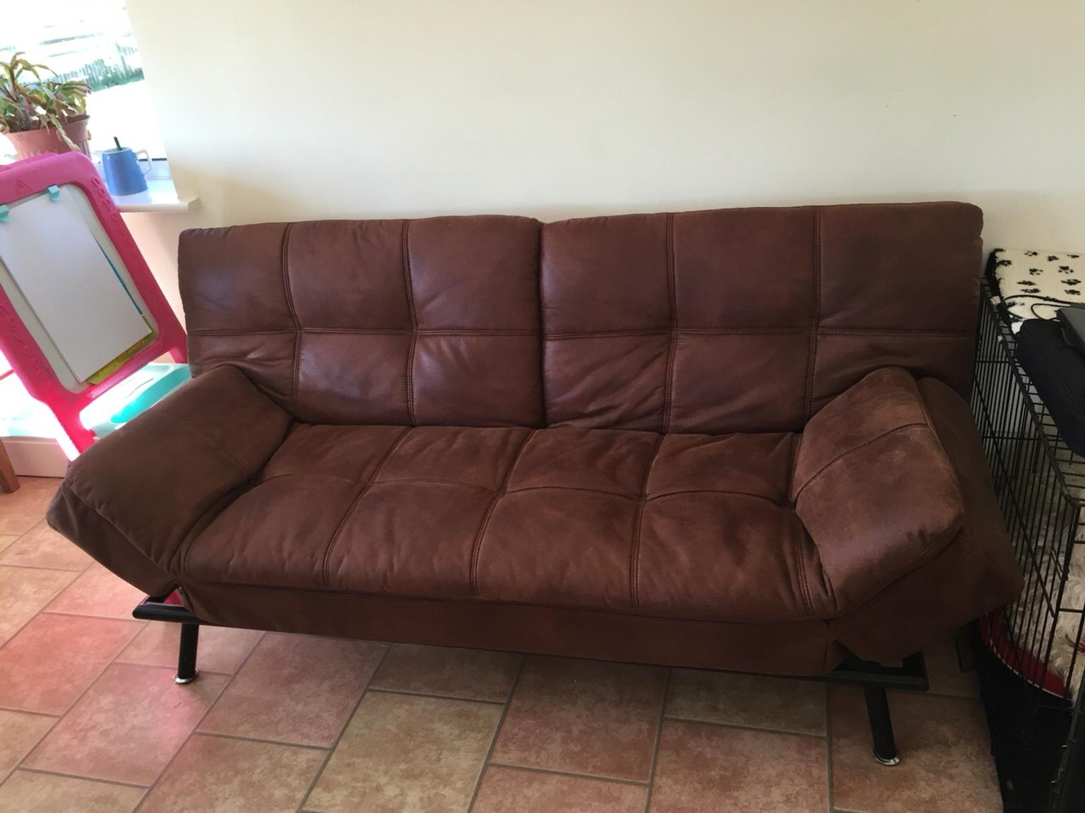 Texas Faux Leather Sofa Bed