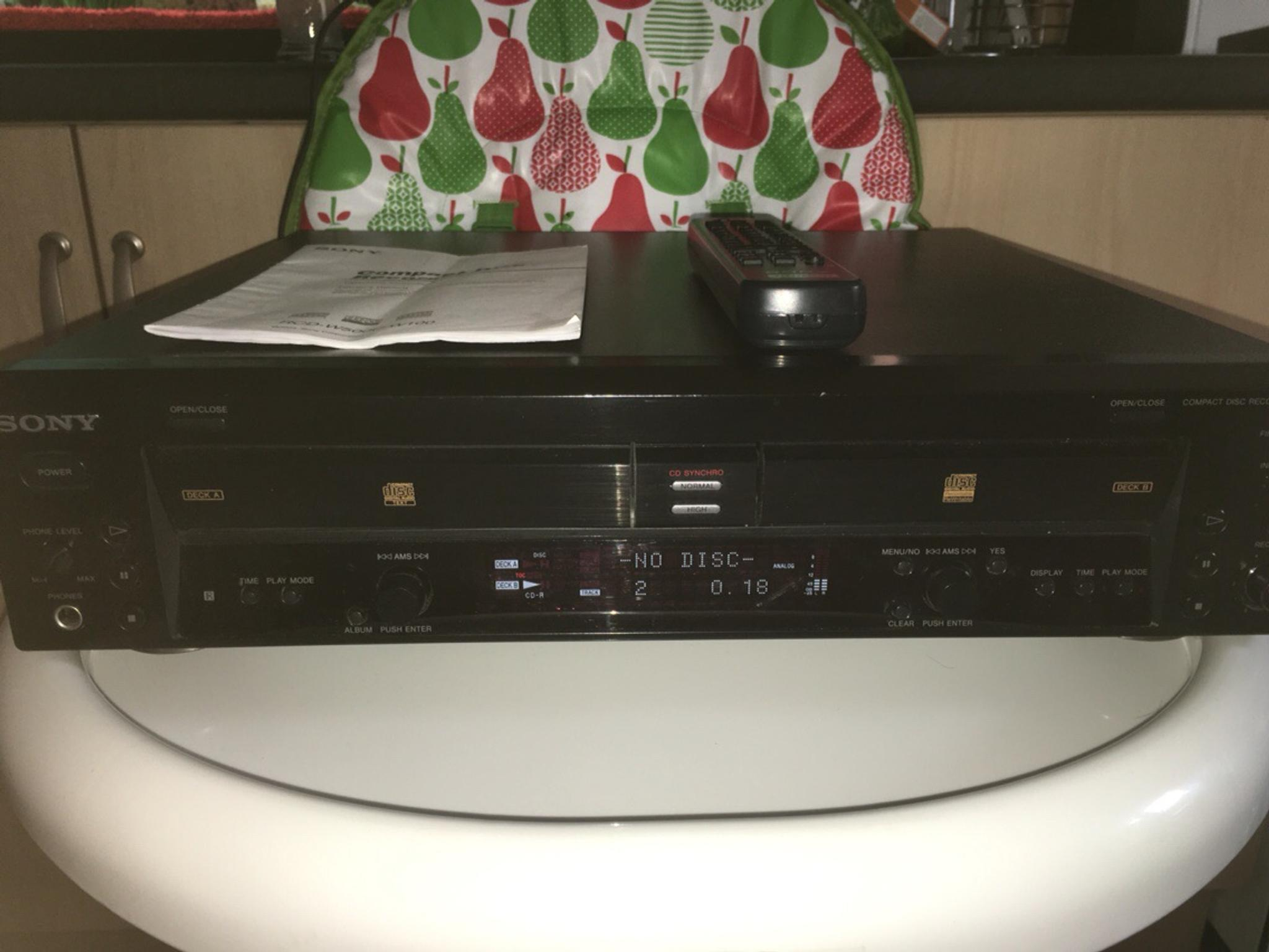 SONY RCD-W500C RCDW100 5-Disc Changer CD Recorder Player USER MANUAL Guideuide