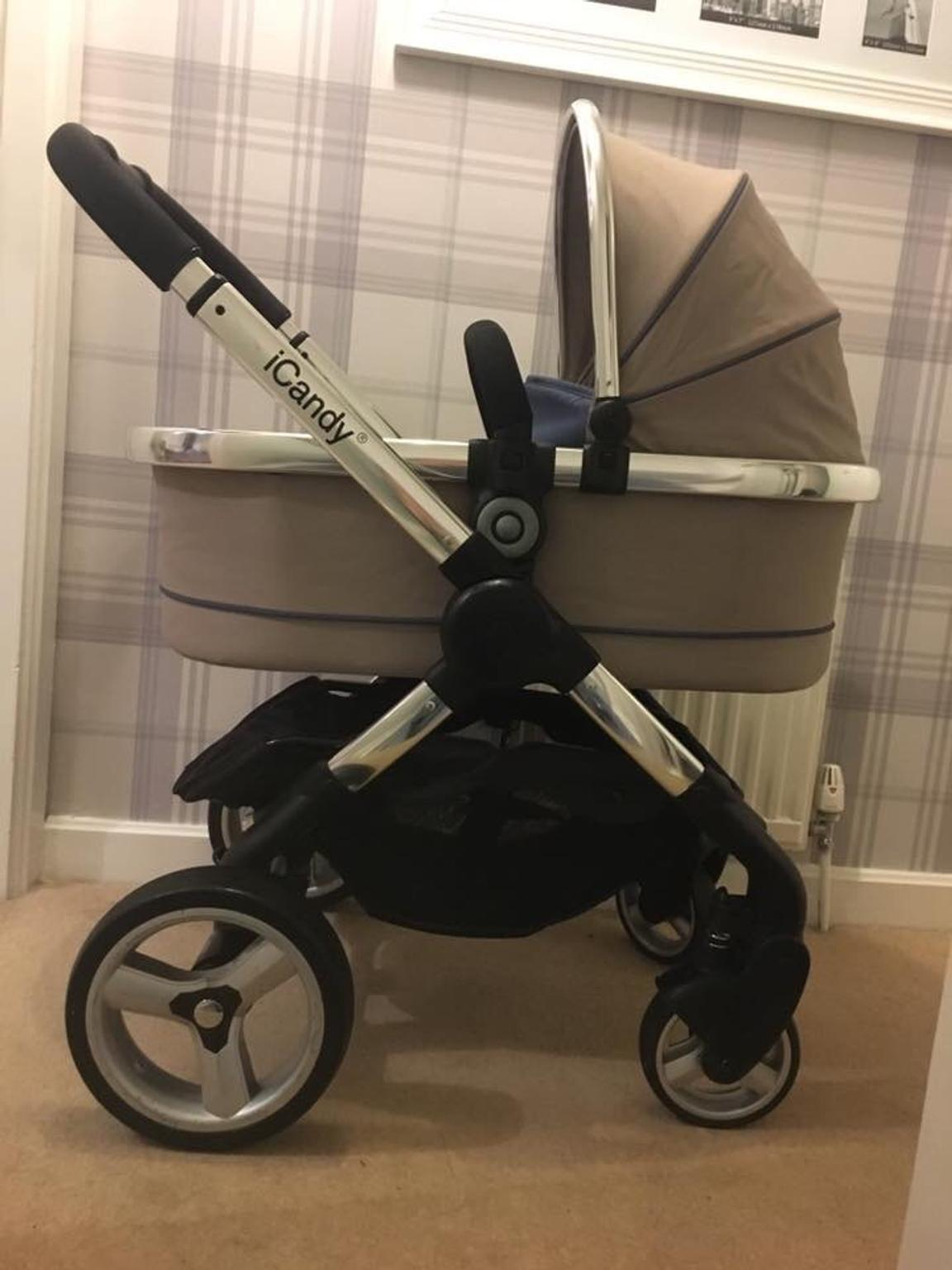 Carrycot Or Twin Carrycot Foam Bumper Bar Ex Display iCandy Peach Main Seat