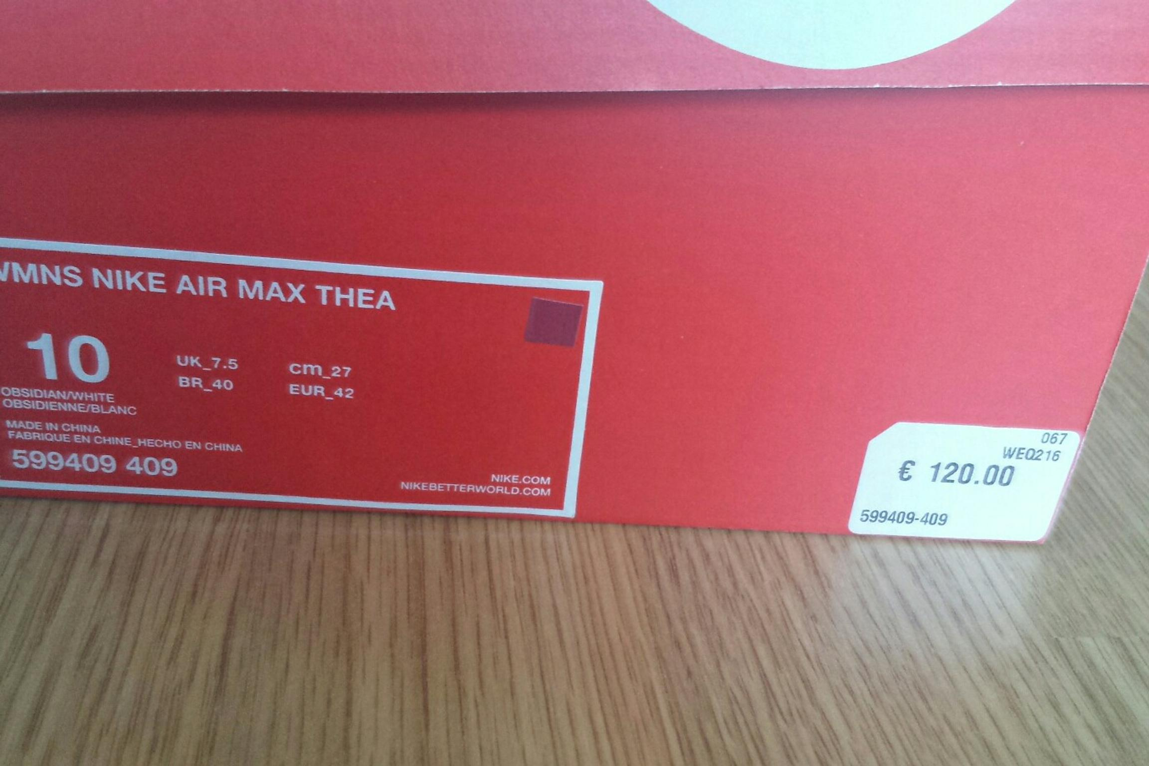 Nike Air Max Thea in 80339 München for €50.00 for sale Shpock