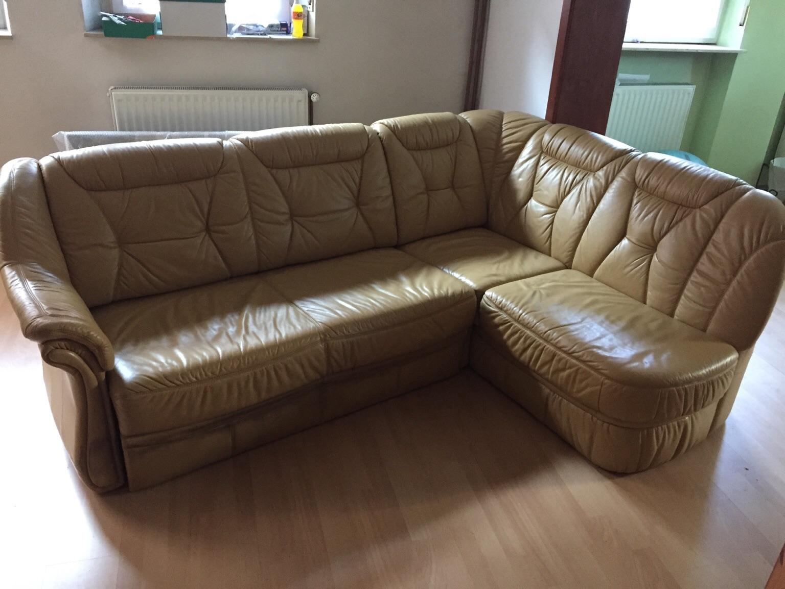 Ausziehbare Eck Ledercouch In 67590 Monsheim For Free For Sale Shpock