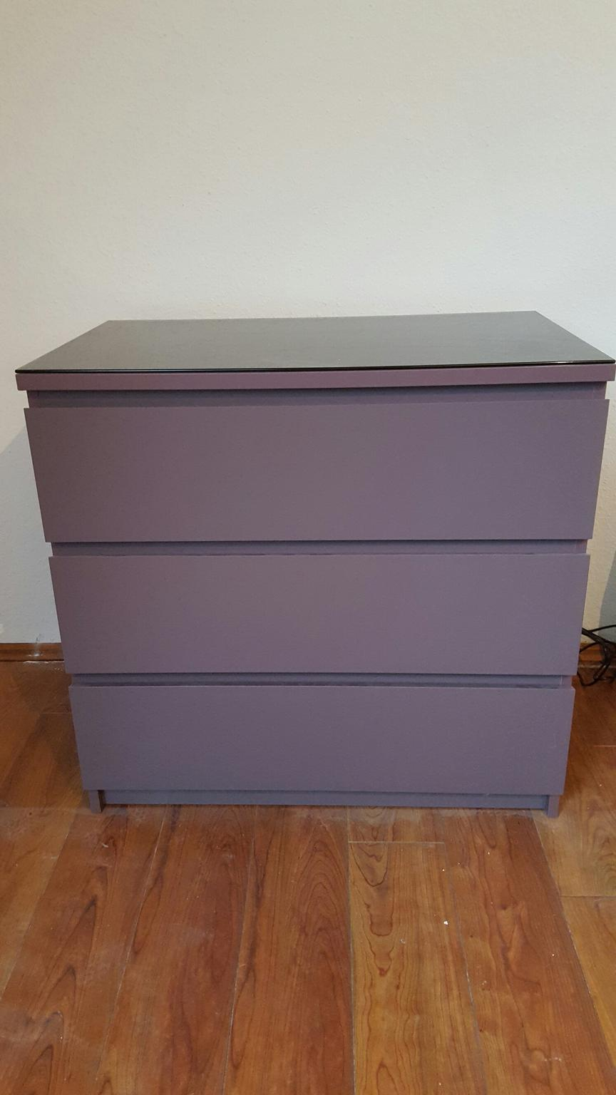Ikea Malm Kommode 2stuck In Lila Violett In 24969 Grossenwiehe For