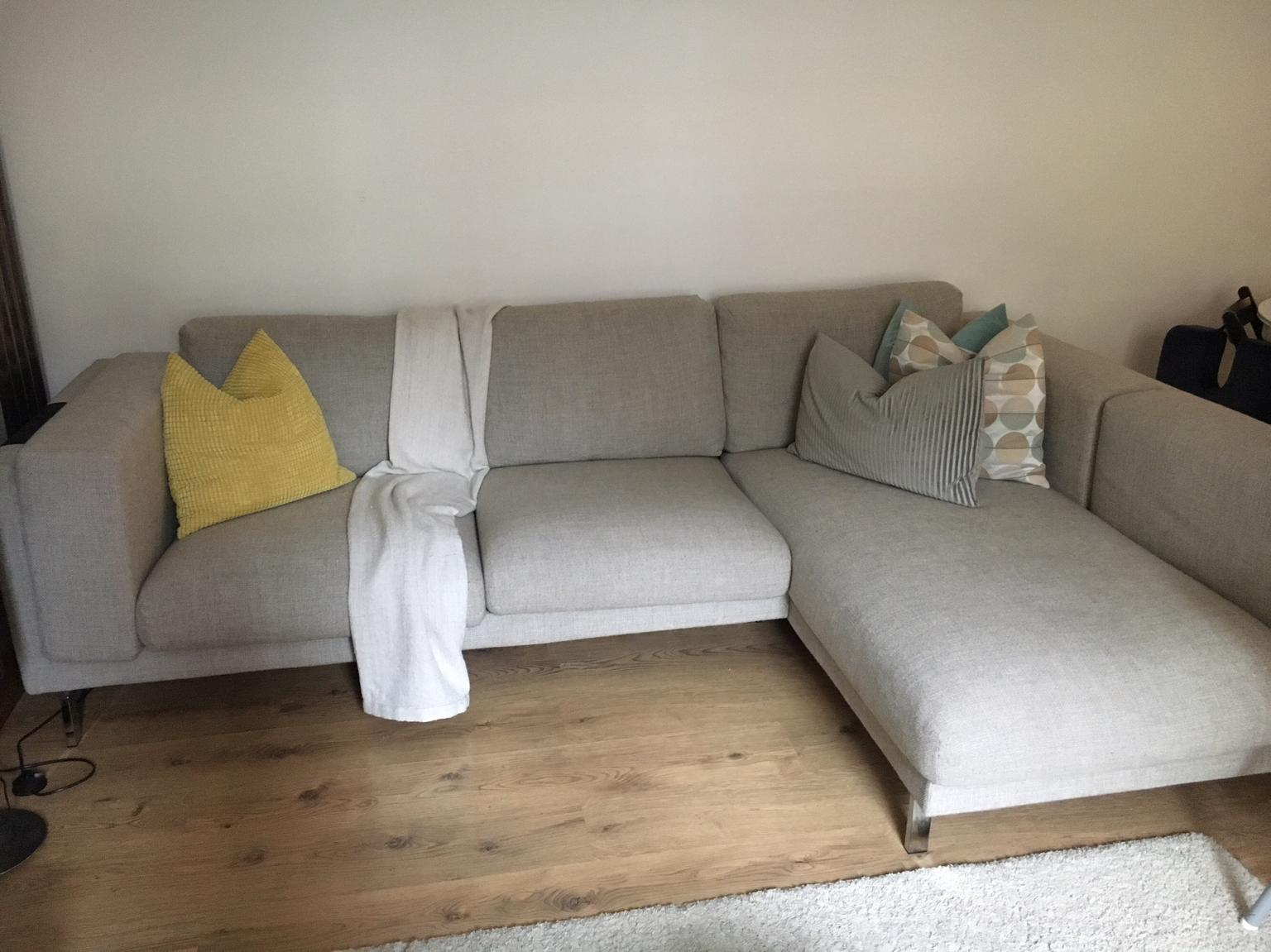 Ikea Nockeby Corner Sofa In Light Grey Wood In Wc1h London