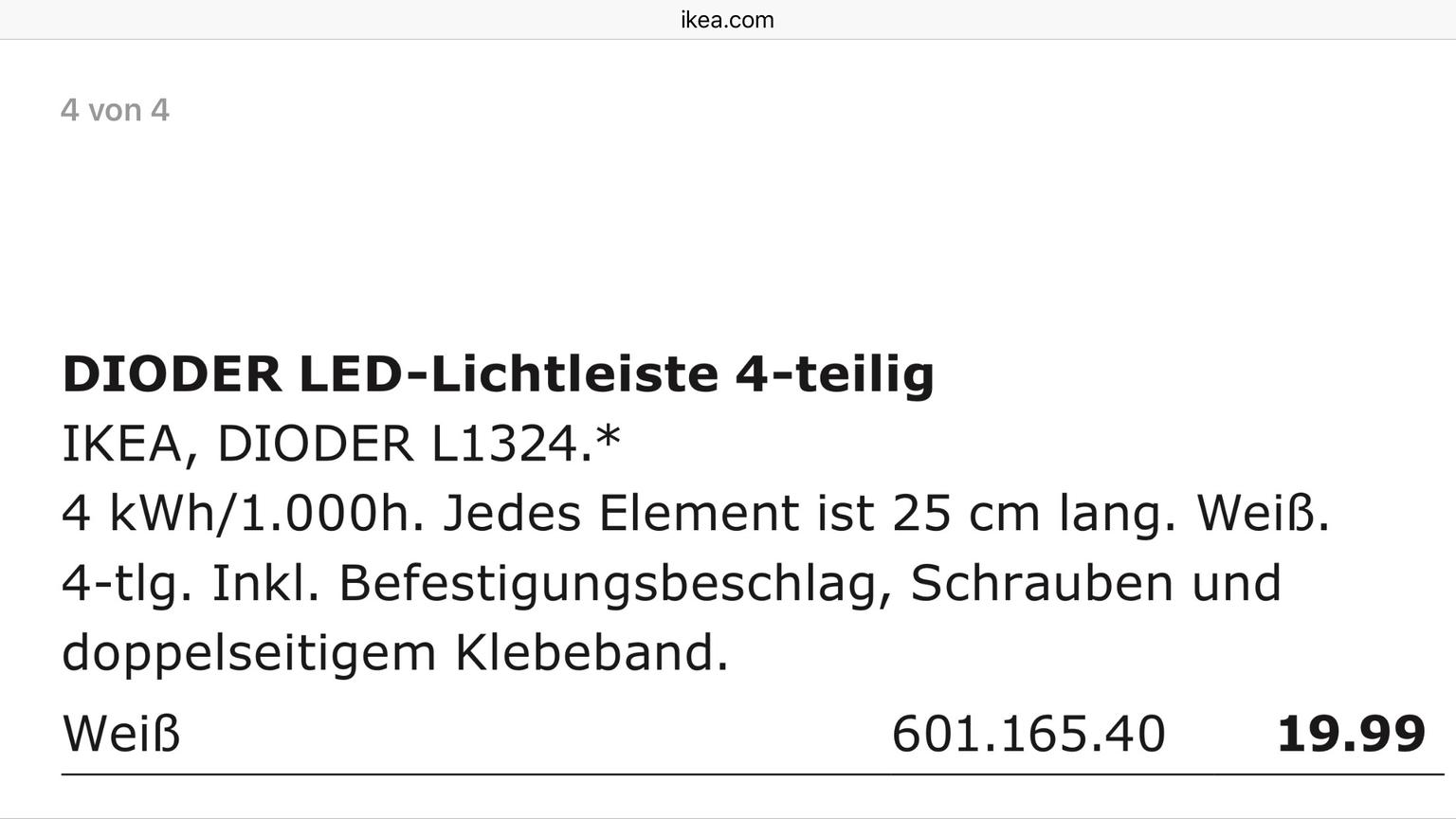 Ikea LED Leiste