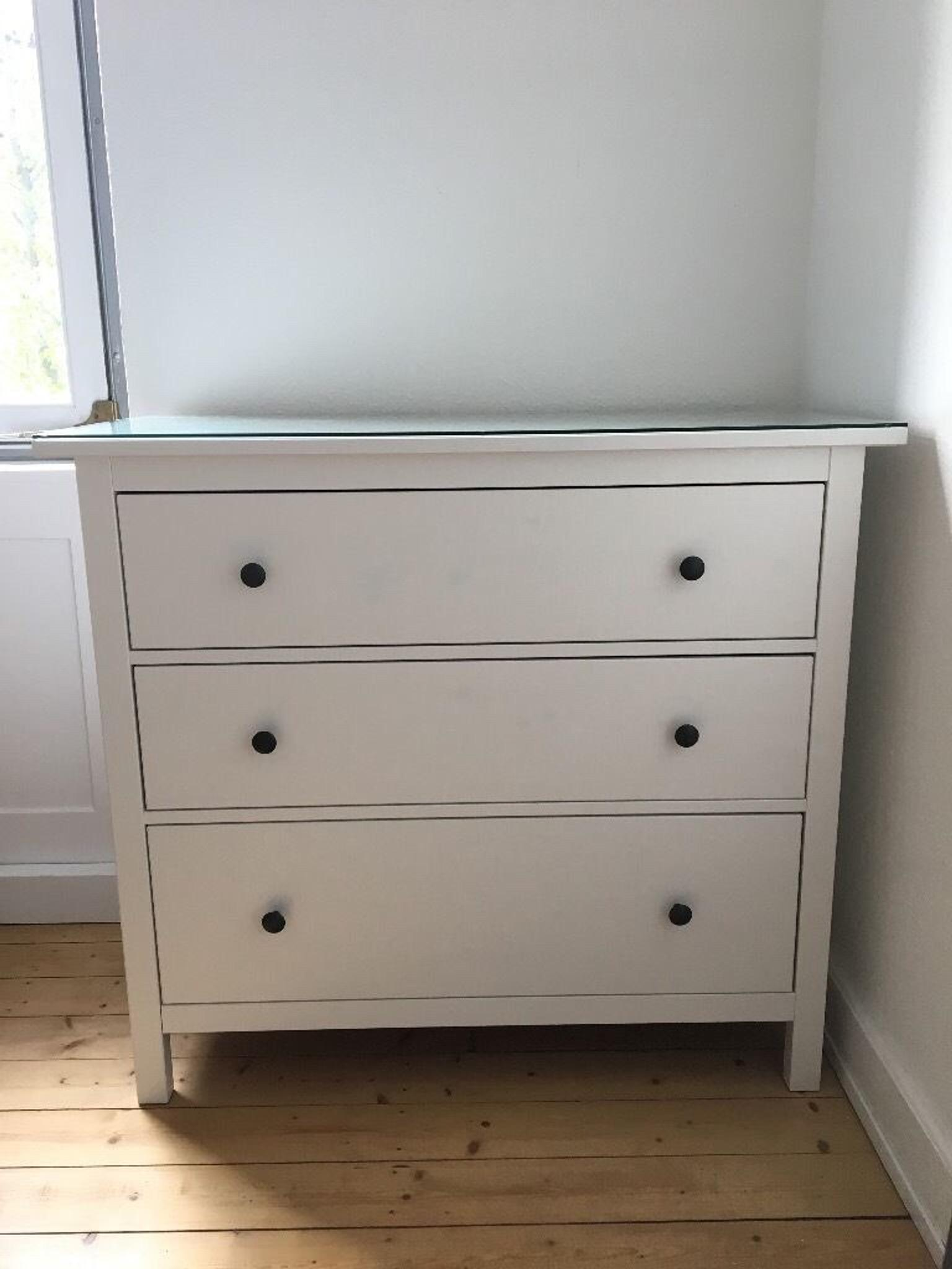 ikea hemnes kommode inkl glasplatte wie neu in 69126 heidelberg for