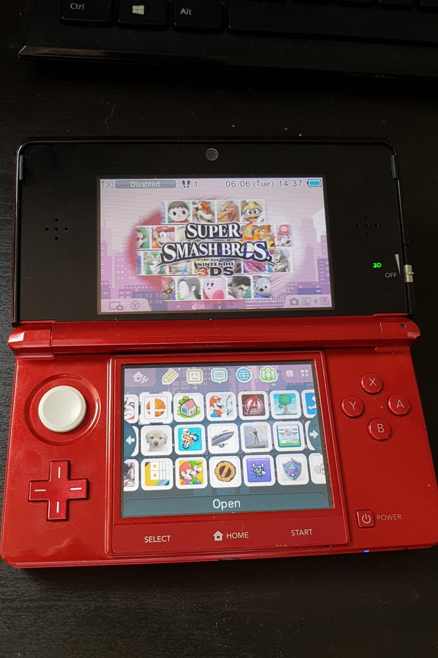 3ds With 30 Games Cheat Menu And Cfw