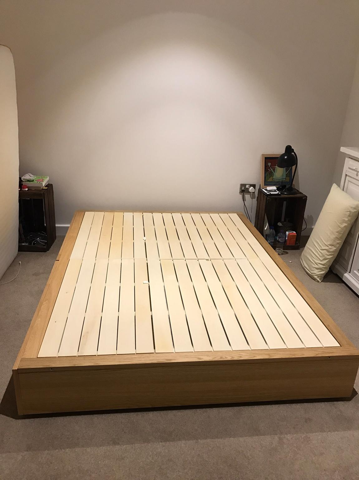 separation shoes 0181c a8291 MUJI Oak Storage Bed - Double (as new)