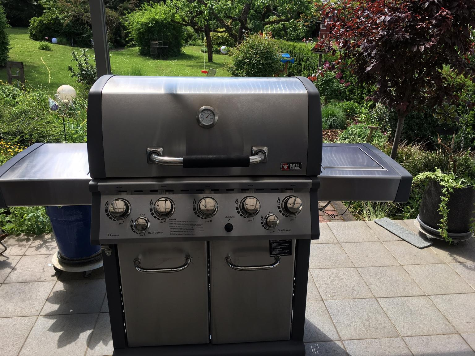Mayer Gasgrill Zunda Test : Gasgrill mit 5 brennern backburner usw. in 64521 groß gerau for