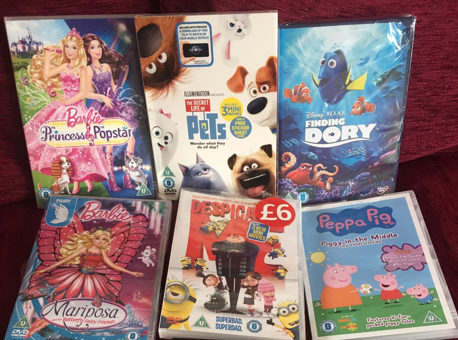 Kids DVDs 50p each