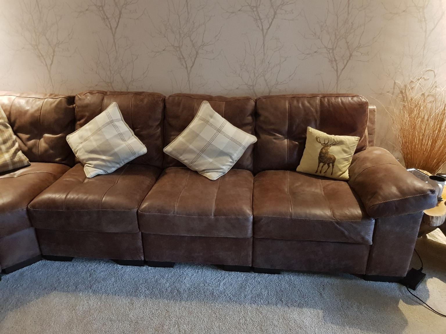 Dfs Rafael Sofa Natural Leather In De11 Newhall For 1 000 00 For Sale Shpock