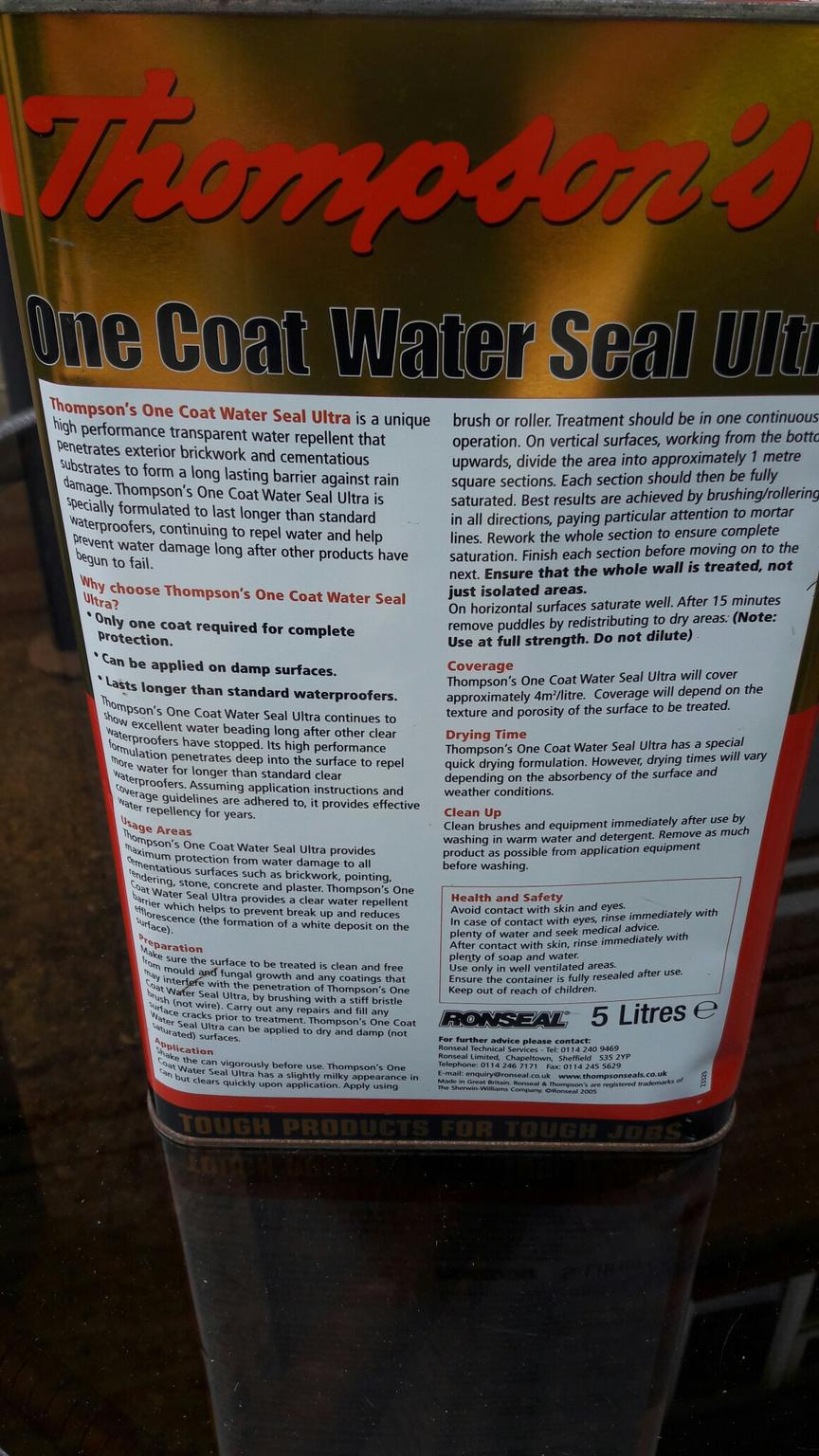 5 Ltr Thompsons One Coat Water Seal