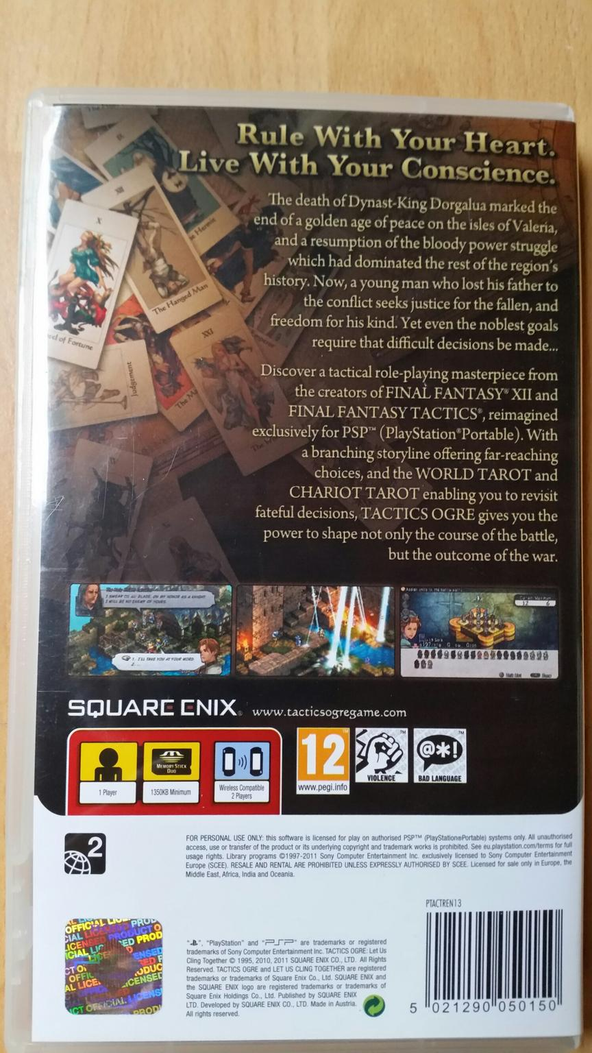 Tactics Ogre Let us Cling togehter PSP