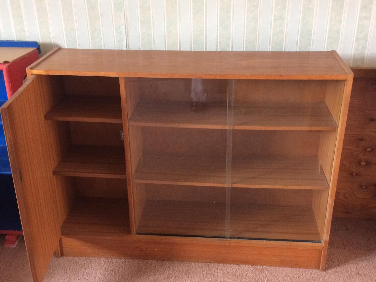Wooden Glass Fronted Shelving Unit In Np22 Tredegar For 15 00 For Sale Shpock