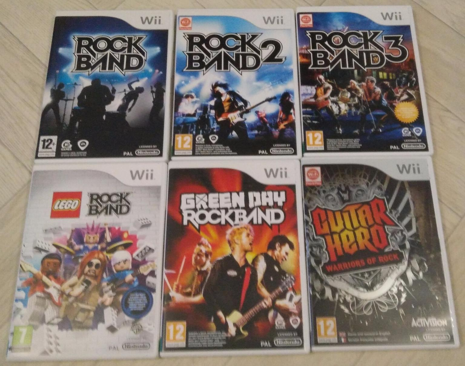 Complete Wii Band Hero, Guitar Hero and games