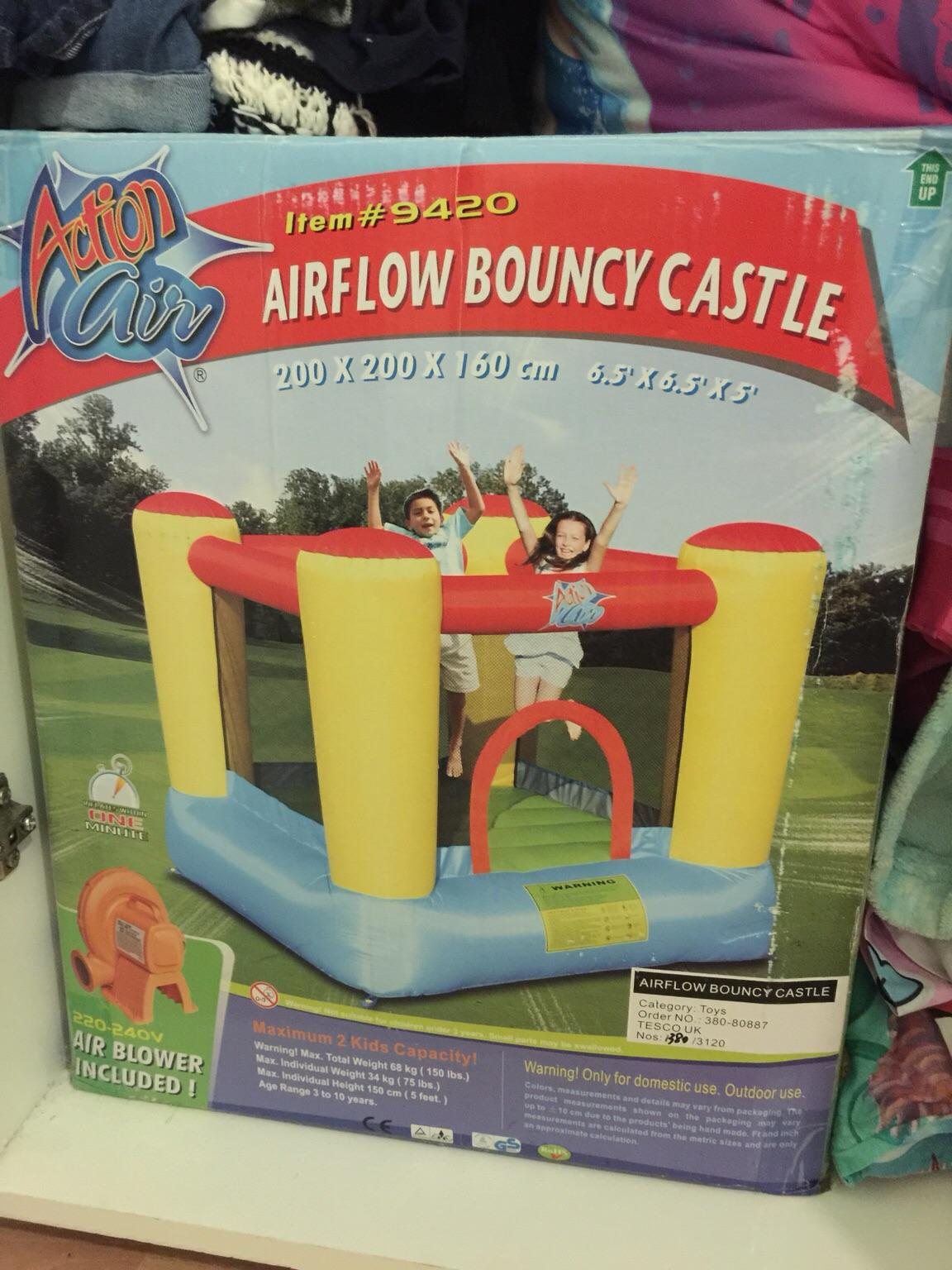 Bouncy castle with pump