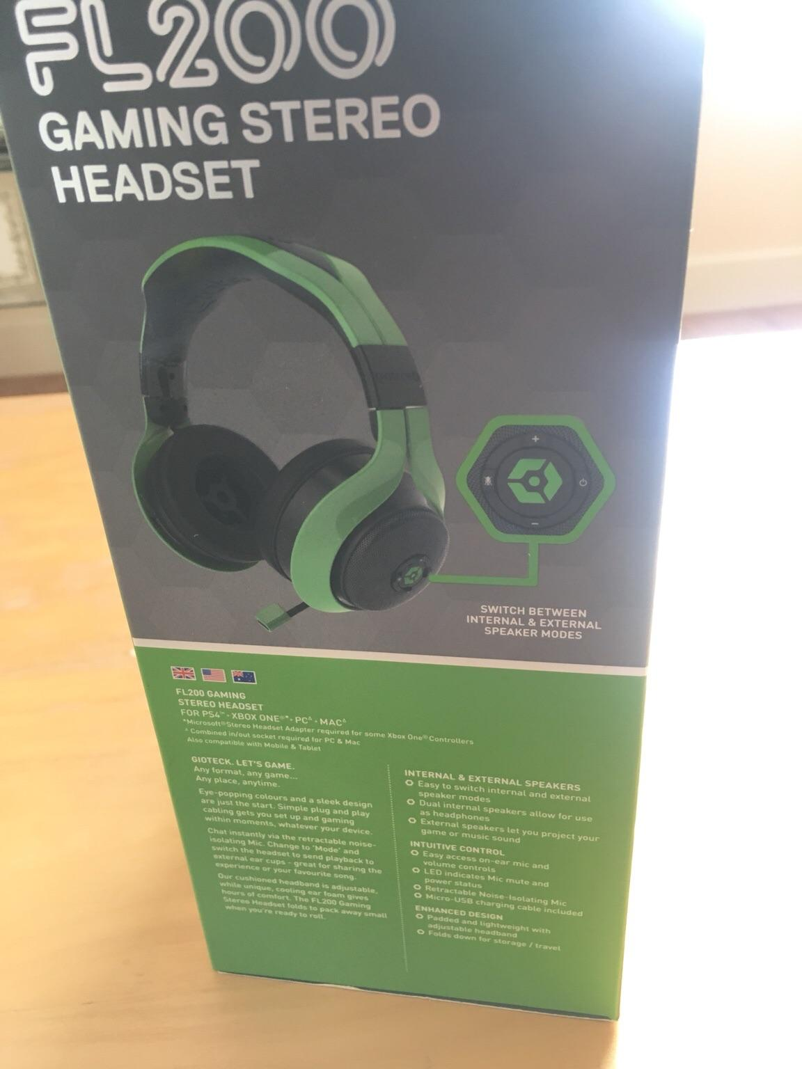 Gioteck FL200 gaming stereo headset