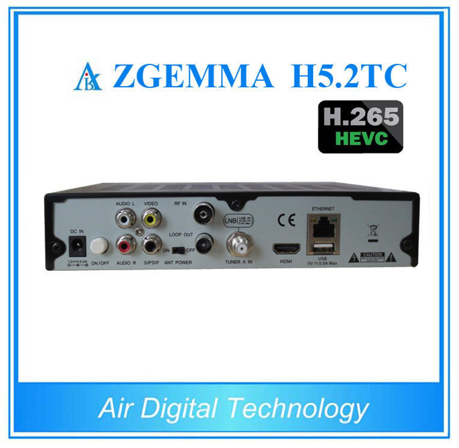 NEW ZGEMMA H5 2TC ORIGINAL 3 TUNER SAT/CABLE