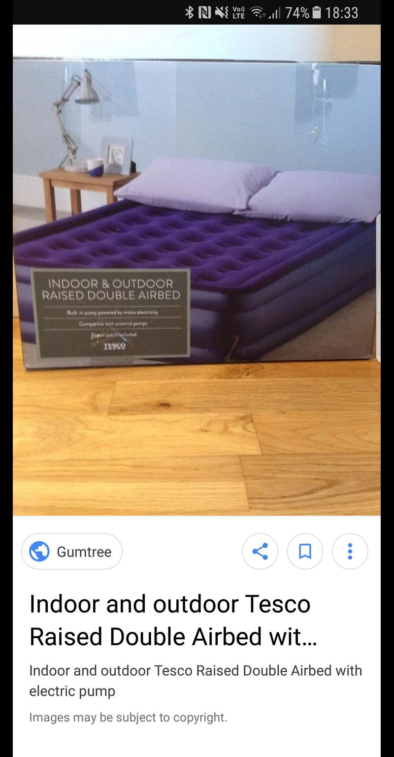 Picture of: Tesco Raised Double Airbed With In L15 Liverpool For 10 00 For Sale Shpock