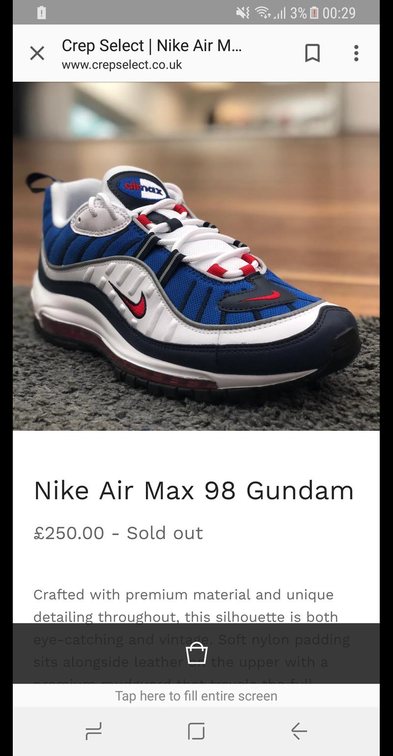Air Max 98 Gundam Brand New In Ss16 Basildon For 280 00 For Sale