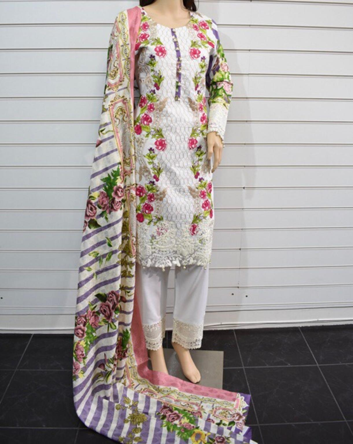 Designer Sobia Nazir Inspired Embroidered Lawn Pakistani//Indian CLEARANCE SALE