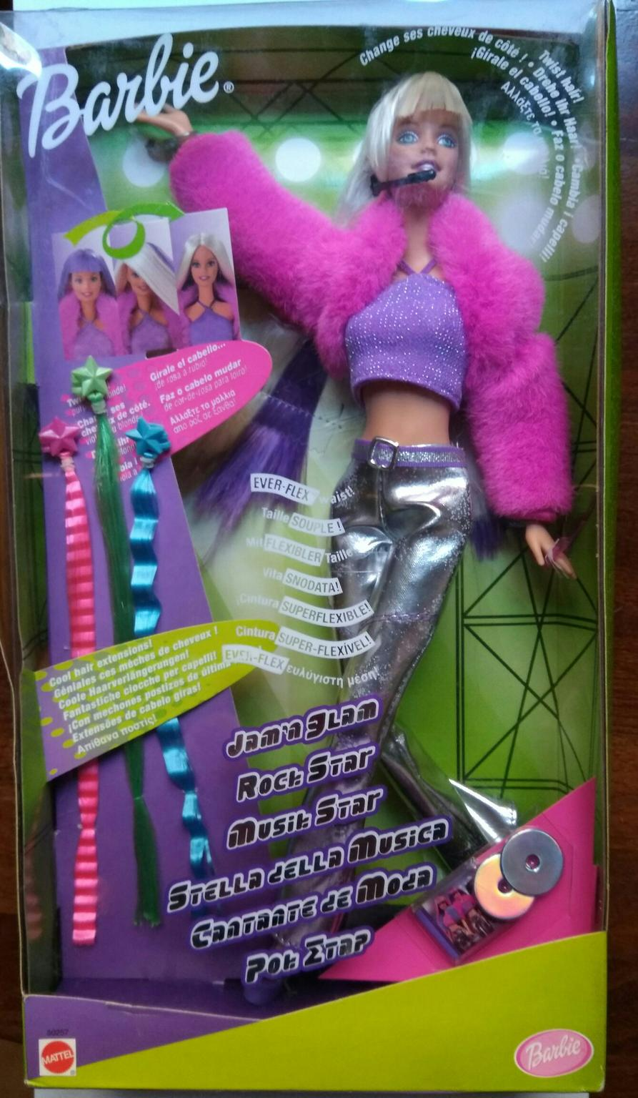 Details about Barbie Cool Clips w Hair Extensions NRFB New