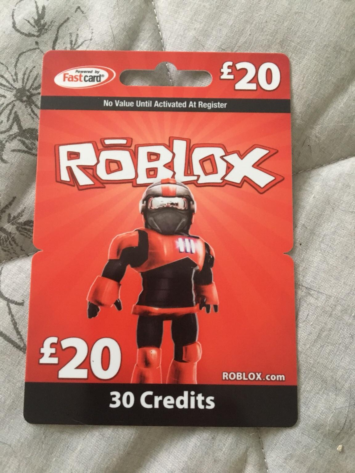 20 Roblox Gift Card In Sm1 Sutton For 18 00 For Sale Shpock