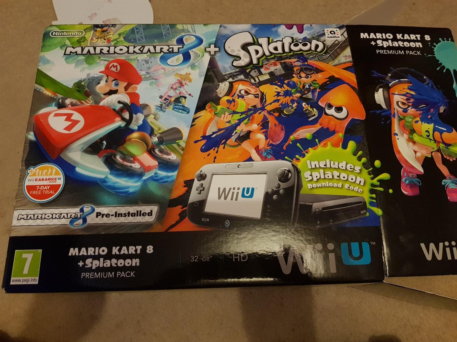 Boxed Wii u console and games