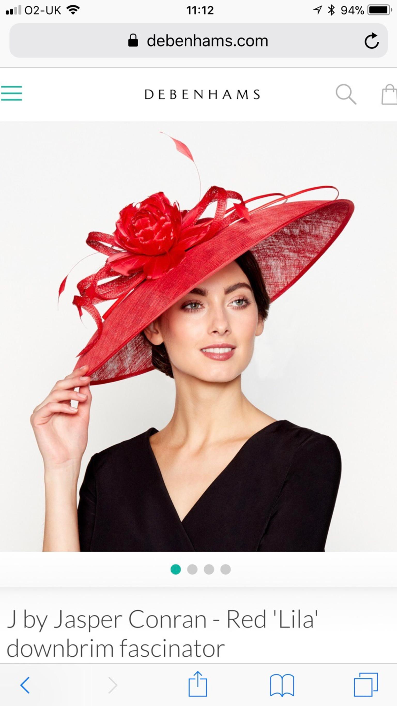 Red Races Wedding Occasion Hat Fascinator in W8 Chelsea for £65.00 for sale  - Shpock b6e6f1bffc4