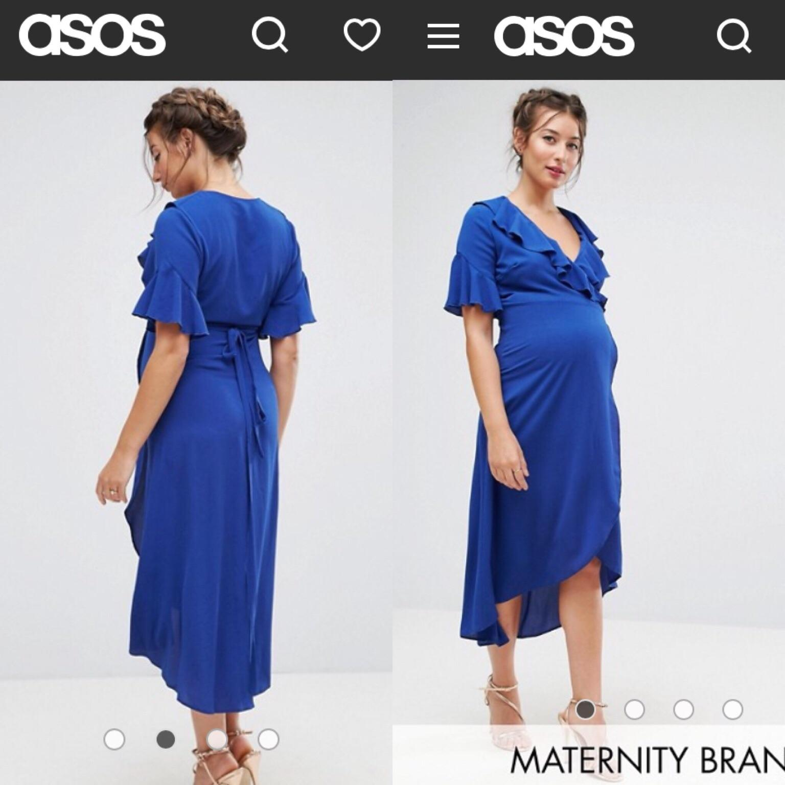 a7bb0431ebf76 ASOS Queen Bee Blue Maternity Wrap dress in for £20.00 for sale - Shpock