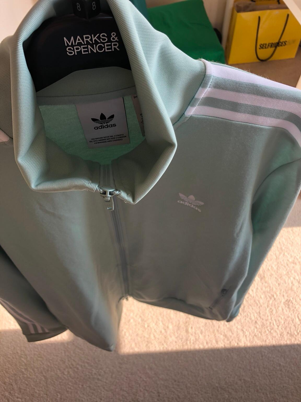 Adidas Beckenbauer Track Top Ash Green Large in M3 Salford