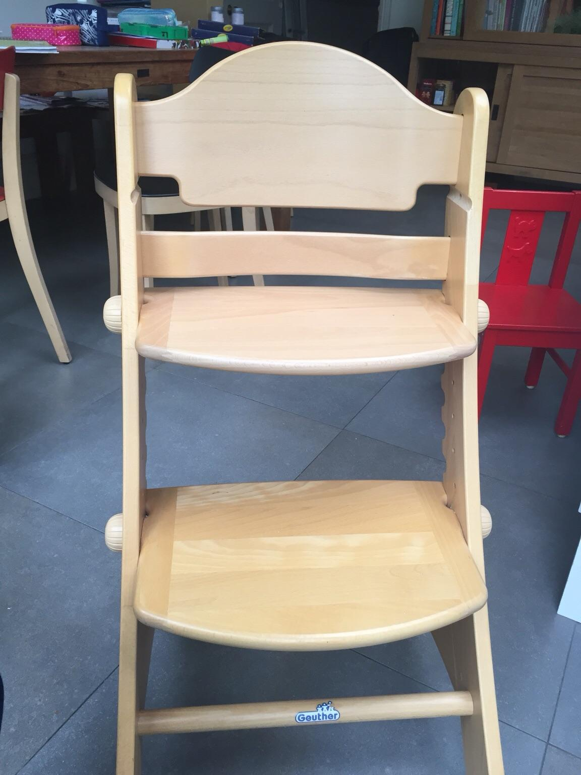 Geuther swing adjustable wooden high chair