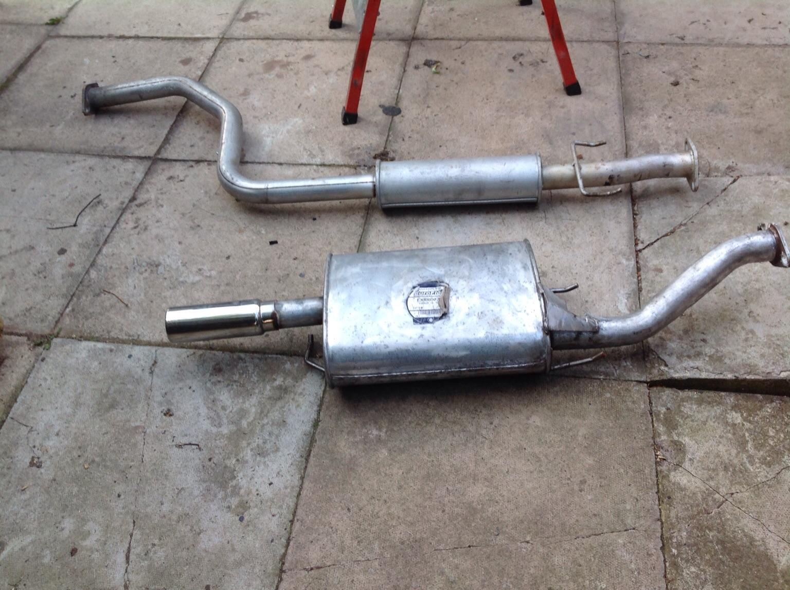 BACK BOX ROVER 25 STAINLESS EXHAUST NEW MG ZR